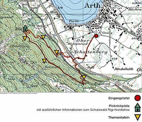 Via Silva Wanderweg Plan