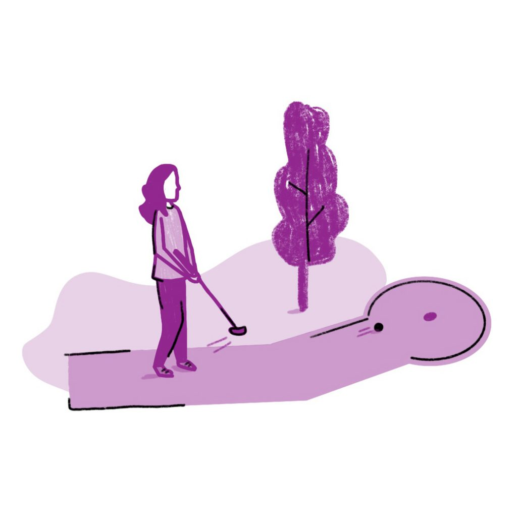 Minigolf Arth Illustration